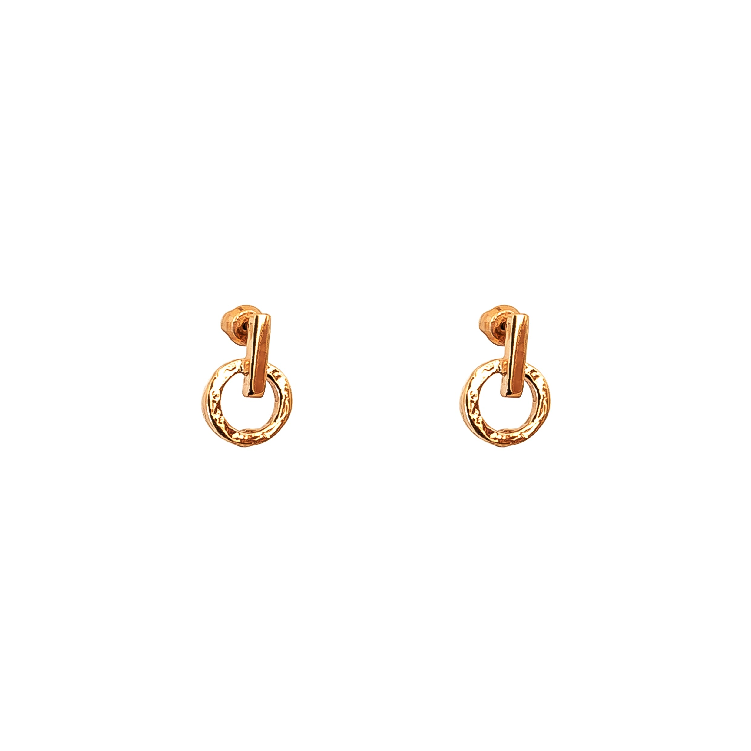 Zoe Fine Stud Earrings | Rose
