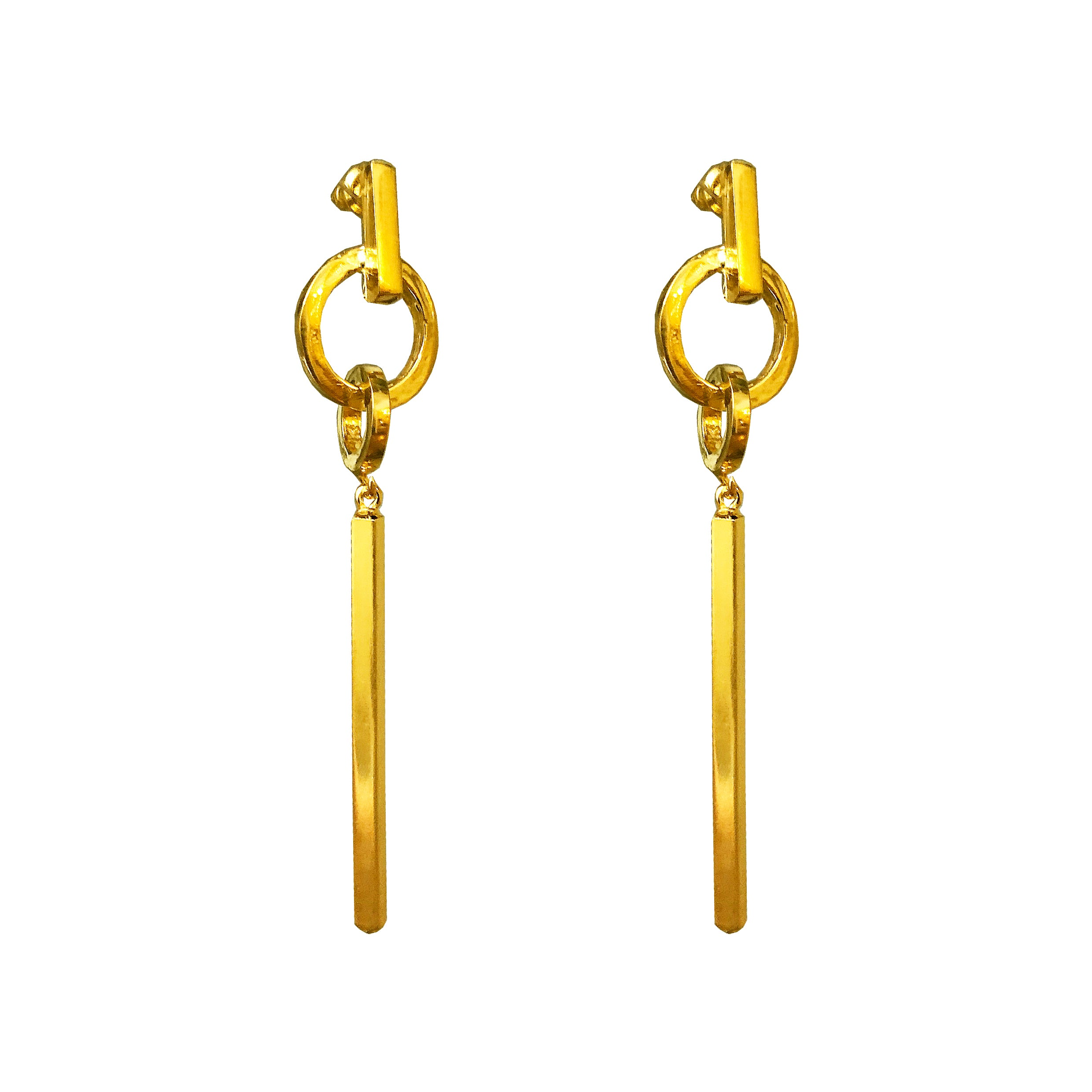 Zoe Large Bar Earrings | Gold