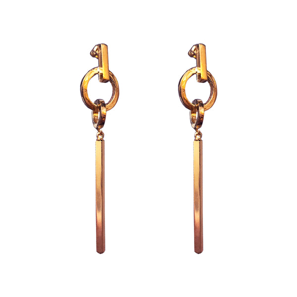 Zoe Large Bar Earrings | Rose