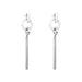 Zoe Large Bar Earrings | Silver