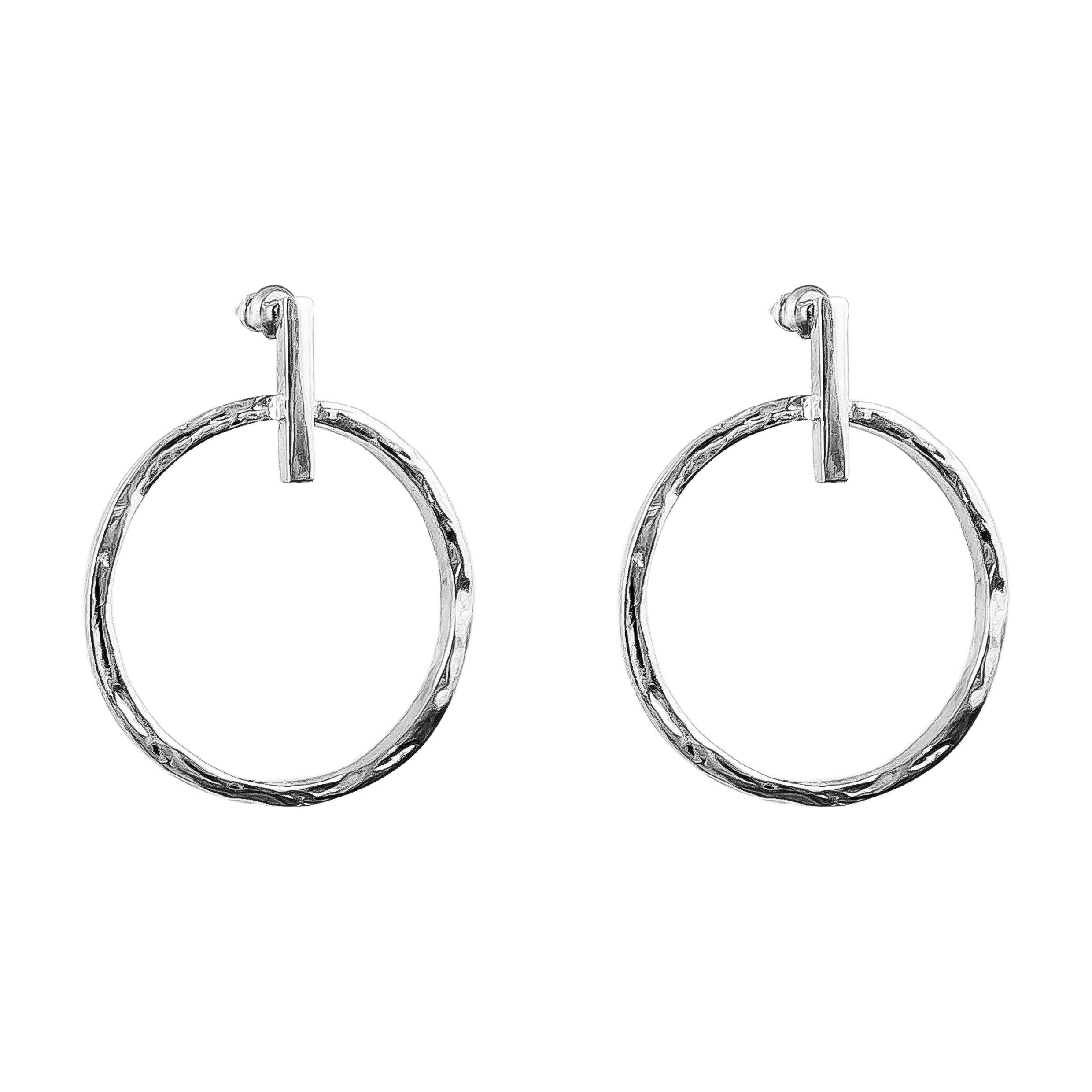Zoe Large Earrings | Silver