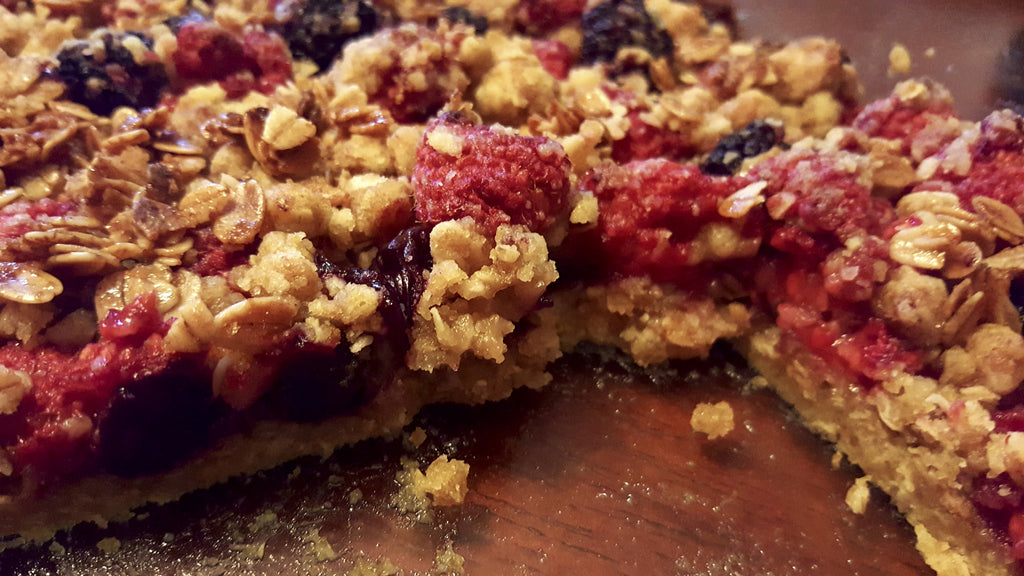 Triple Berry Salted Caramel Nola Granola Crumble