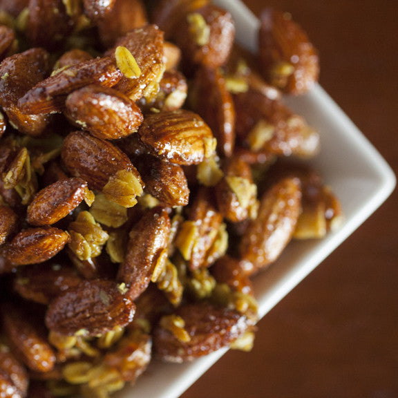 Coconut Curry Spicy Almonds