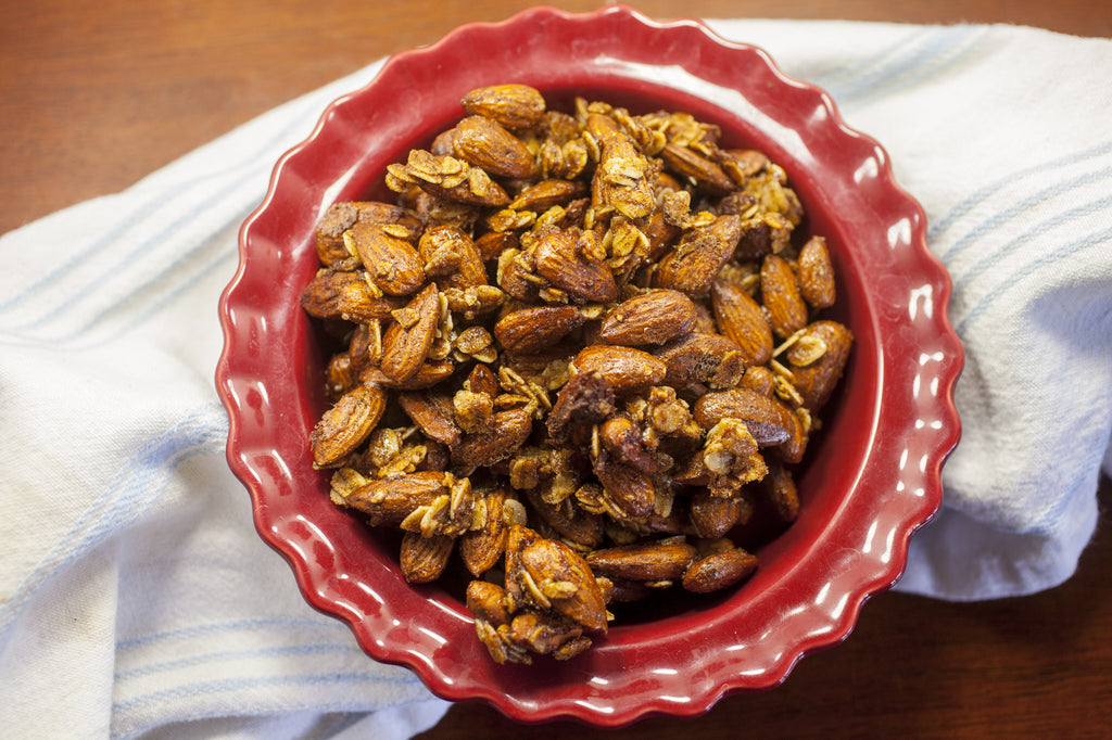 Salted Caramel Pumpkin Roasted Almonds