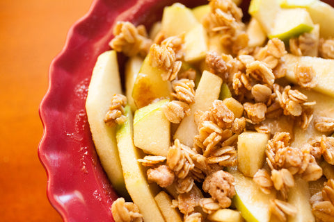 Layer your fav Nola Granola on top of the apple mixture