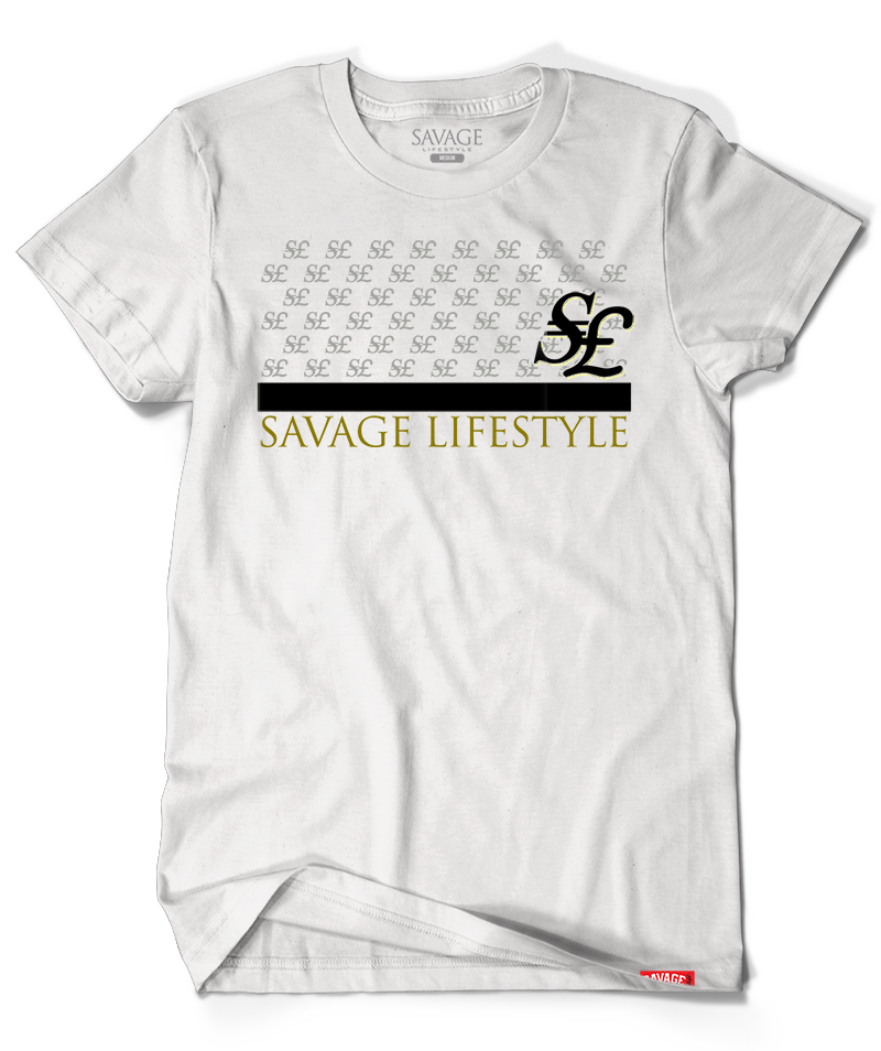 "Savage ""$£"" Currency in white"