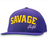 Savage Logomark Snapback in purple