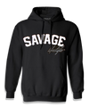 Black Savage Hoodie with white patch