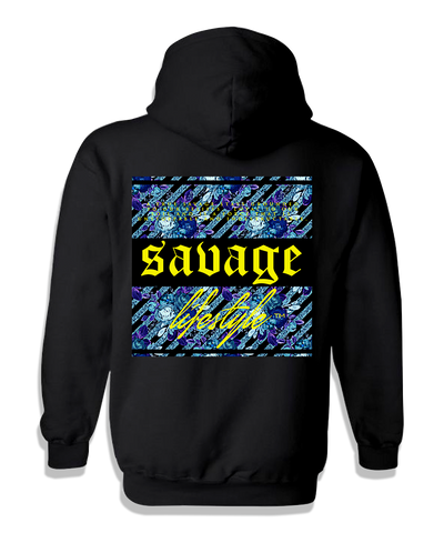 "Savage ""Not Average"" Hoodie in black"