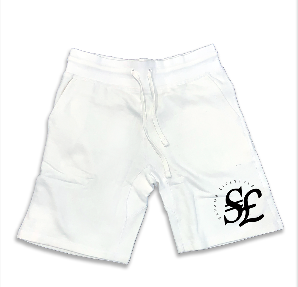 Currency jogger shorts in white