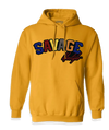 Gold Savage Hoodie with color patch