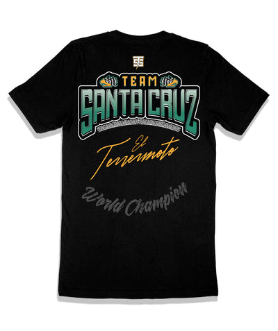 Leo Santa Cruz official fight shirt made by Team Savages