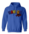 Royal Blue Savage Hoodie with color patch