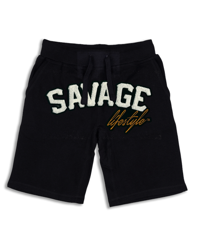 Savage All White jogger shorts
