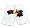 Savage Colorwave jogger shorts in white