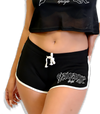Savage Old English Women's Mesh Contrast Shorts - black/white