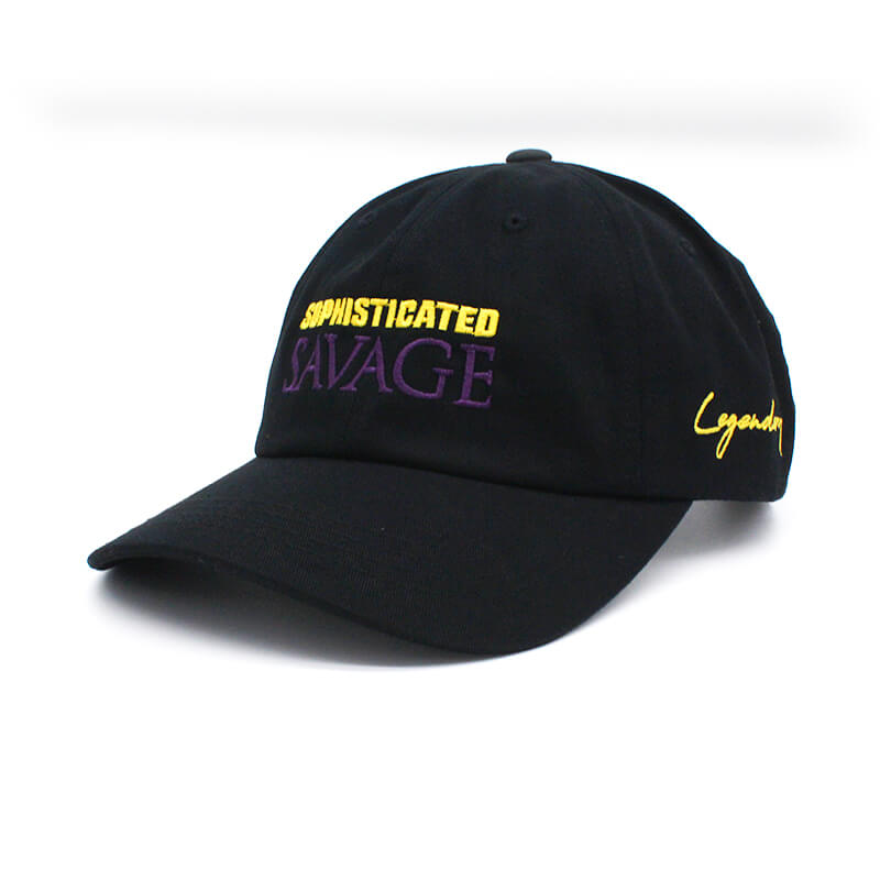 Sophisticated Savage Dad Hat - Purple & Yellow Stitch
