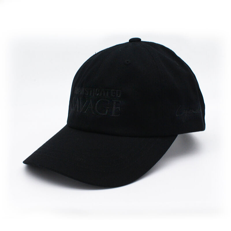 Sophisticated Savage Dad Hat - All Black Stitch