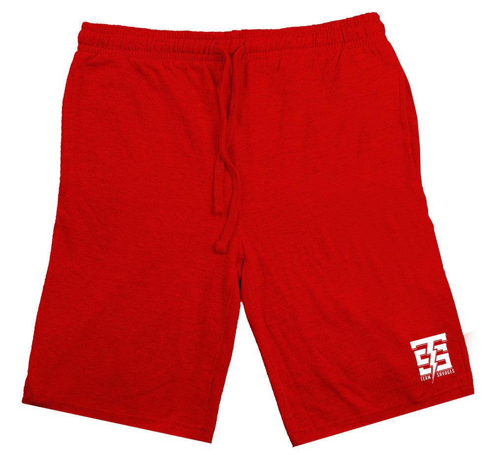 Team Savages Sweat Shorts in red - by Savage Lifestyle
