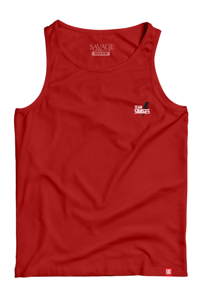 Team Savages Minimal Tank Top in red - by Savage Lifestyle