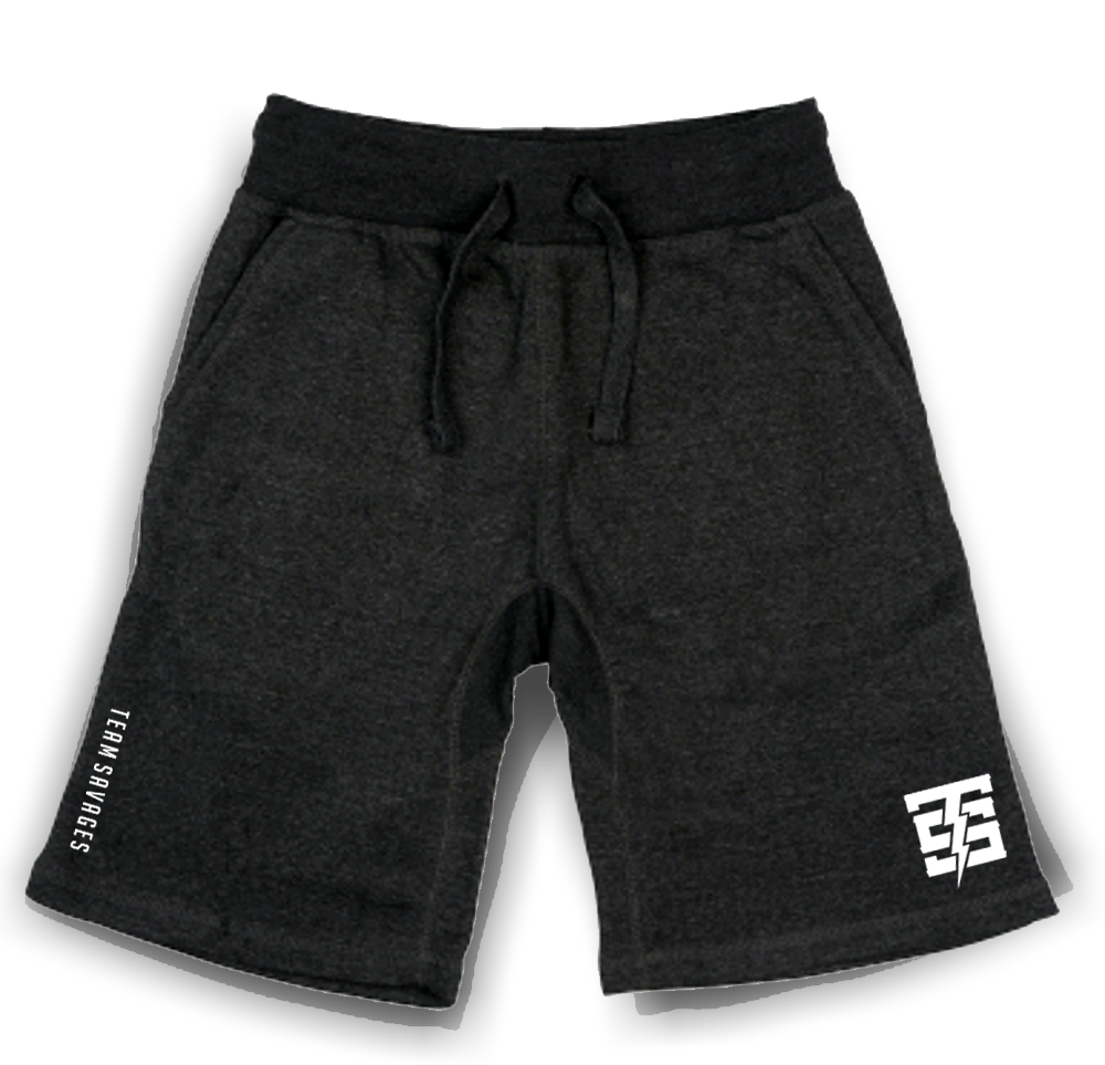 TS Brandmark jogger shorts in charcoal