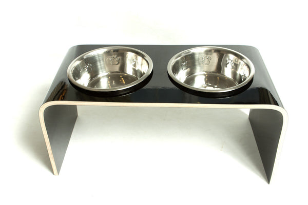 Black Large Raised Dog Bowl - Jolly and Bea's - 6