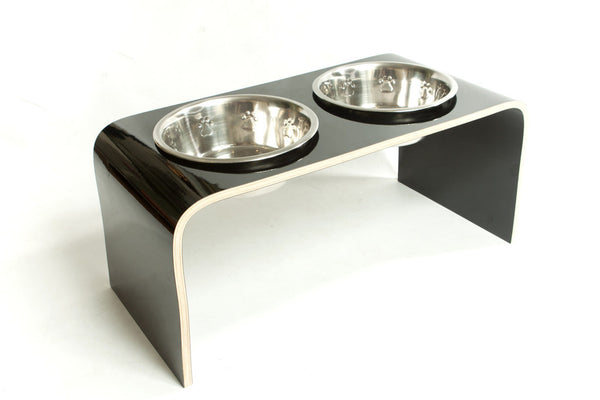 Black Large Raised Dog Bowl - Jolly and Bea's - 4