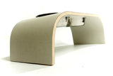 Medium Beige Canvas Raised Dog Bowl Holder - Jolly and Bea's - 2