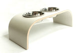 Medium Beige Canvas Raised Dog Bowl Holder - Jolly and Bea's - 3