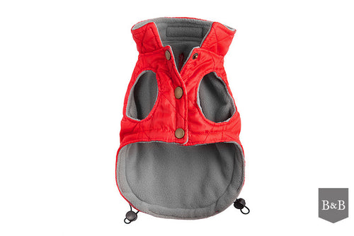 Red Quilted Dog Jacket - Jolly and Bea's - 2