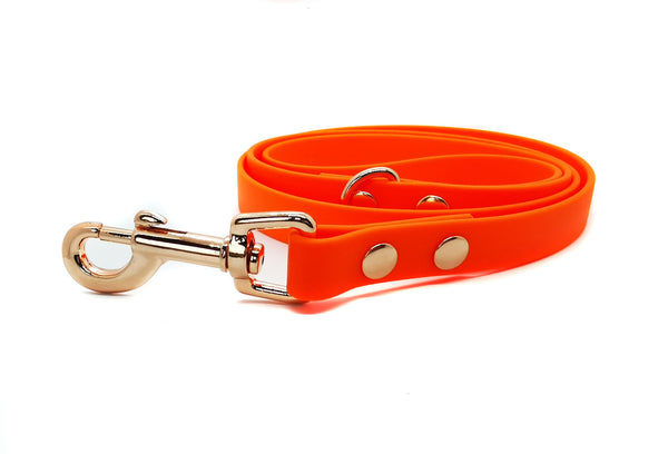 ORANGE BIOTHANE DOG LEAD