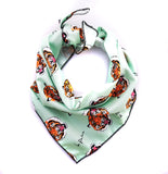 BE FIERCE TIGER MINT GREEN DOG BANDANA