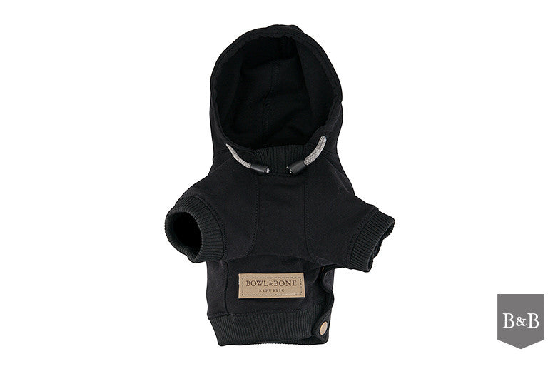 Black YOLO Dog Hoodie - Jolly and Bea's - 2