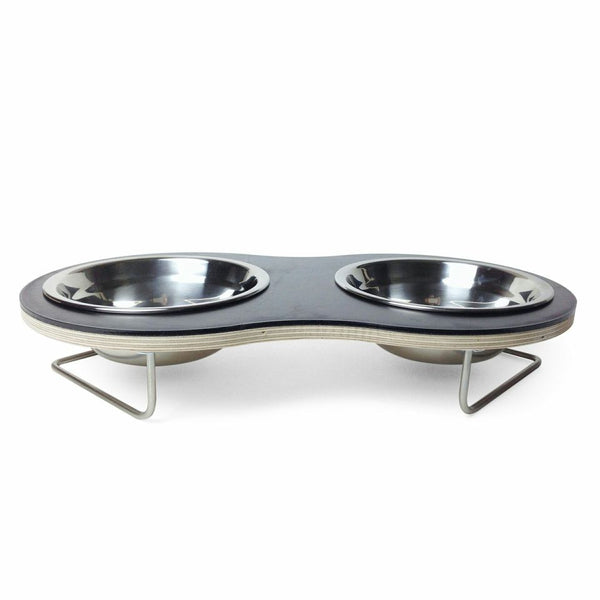Peanut Medium Dog Bowl (Black) - Jolly and Bea's - 3