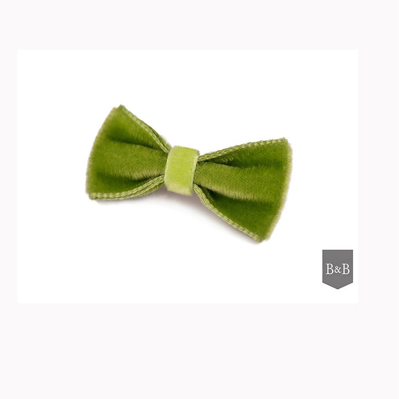 Apple Green Dog Bow - Jolly and Bea's - 1