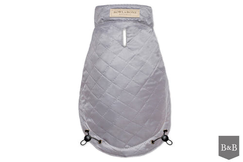 Grey Quilted Dog Jacket