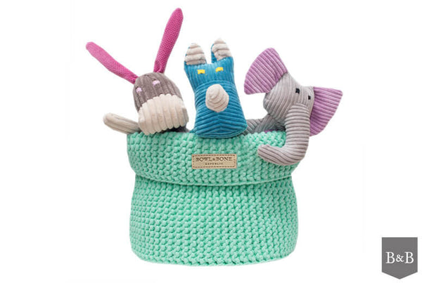 Mint Cotton Toy Basket