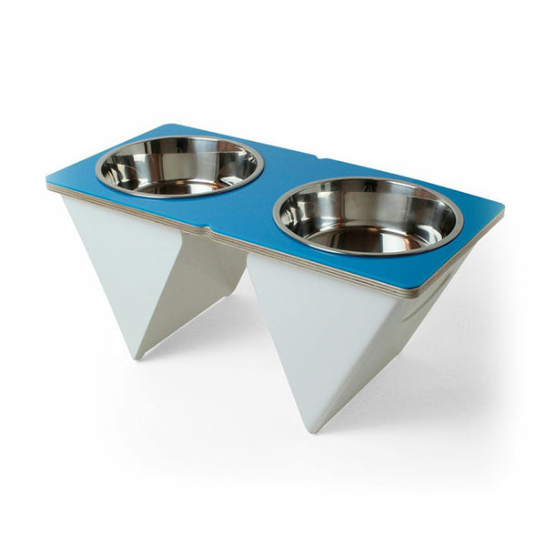 Boxer Tall Dog Bowl Blue - Jolly and Bea's