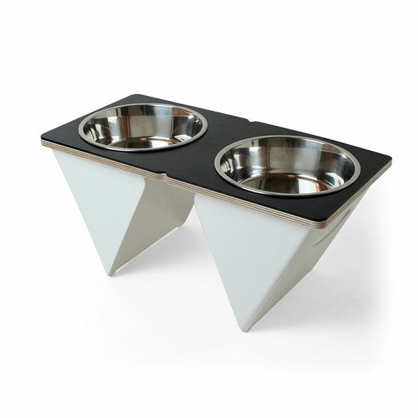 Boxer Tall Dog Bowl in Black - Jolly and Bea's - 1