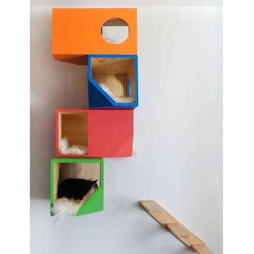 Catissa Wall-Mounted Cat Bed and Play Boxes - Jolly and Bea's - 1