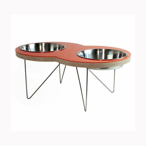 'The Eight' Pet Bowl in Orange - Jolly and Bea's - 1