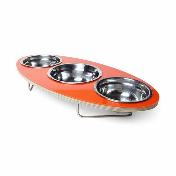Ellipse Petbowl in Orange - Jolly and Bea's - 1