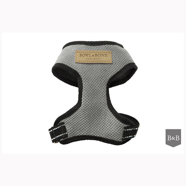 Grey Candy Dog Harness - Jolly and Bea's - 1