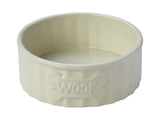 ESSENTIAL CERAMIC WOOF BONE DOG BOWL
