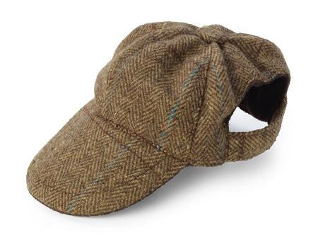 BROWN TWEED HAT