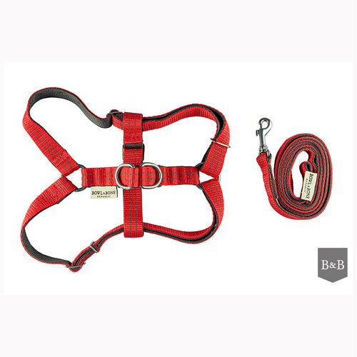 Red Active Dog Harness with Lead - Jolly and Bea's - 1