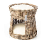RATTAN DOUBLE CAT BASKET