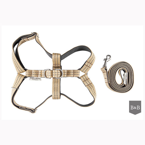 Khaki Dog Harness with Lead - Jolly and Bea's - 1