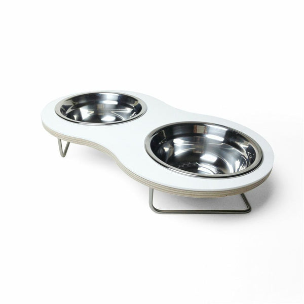 Peanut Medium Dog Bowl (White) - Jolly and Bea's - 1