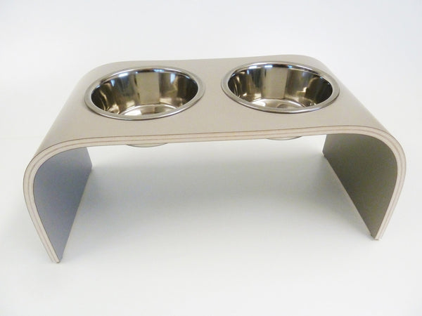 Medium Grey Raised Dog Bowl Holder Squared Design - Jolly and Bea's - 3